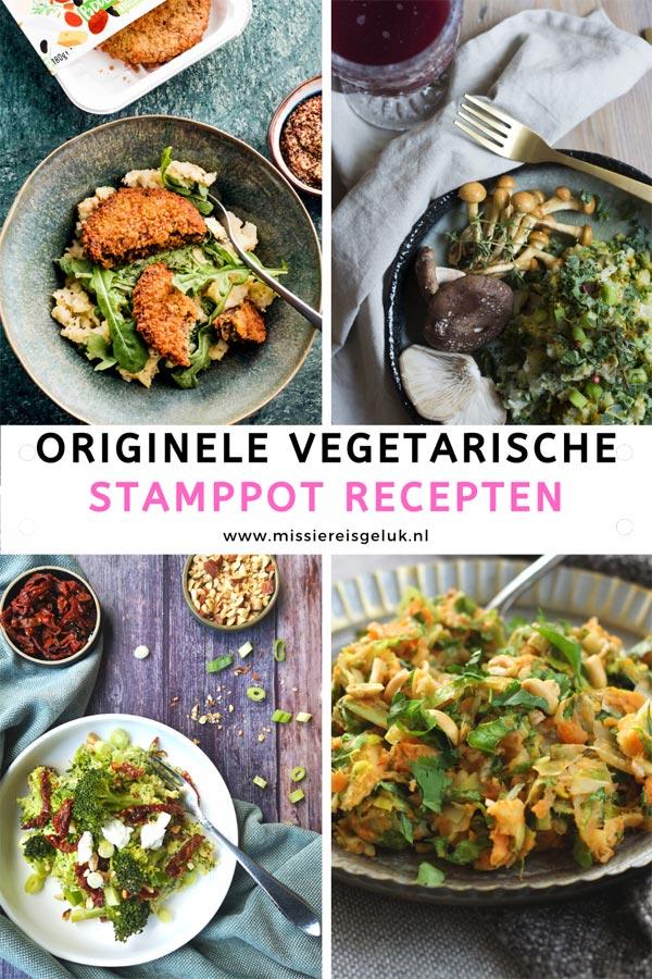 Pinterest beel voor het pinnen van originele vegetarische stamppot recepten