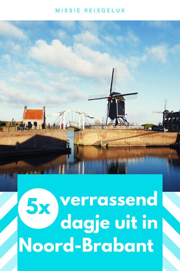 Pinterest beeld voor het pinnen van 5x verrassend dagje uit in Brabant