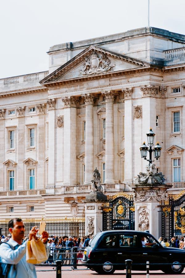 buitenkant Buckingham Palace, Londen