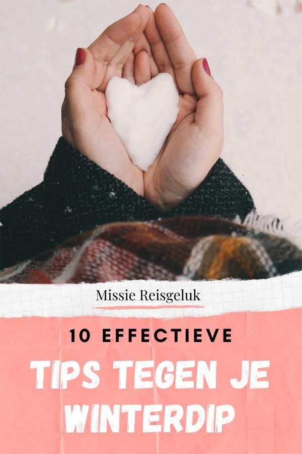 Pinterest beeld voor het pinnen van effectieve tips tegen de winterdip